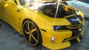 Dubsandtires Com 2011 Chevy Camaro Review 24 U0026 39  U0026 39  Forgiato Black And Yellow Custom Luxury Wheels