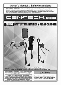 Harbor Freight Tools 12 Volt Deluxe Battery Maintainer And