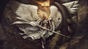 Angel, Wings, Artwork, Armor, Spear, Cape, Women, Hery, Fantasy, Art, Wallpapers, Hd, Desktop, And