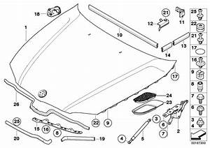 Bmw 328i Sealing  Engine Compartment Lateral Rear  Hood