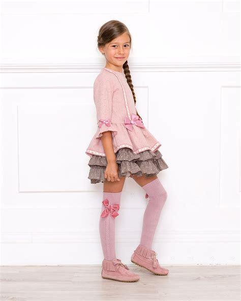 Outfit Vestido Rosa Palo Dolce Petit   Missbaby