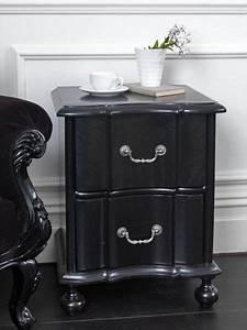 Kensington, Black, Bedside, Table