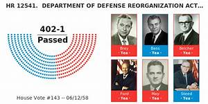Congress Ideology Chart Hr 12541 Department Of Defense Reorganization Act Of 1958