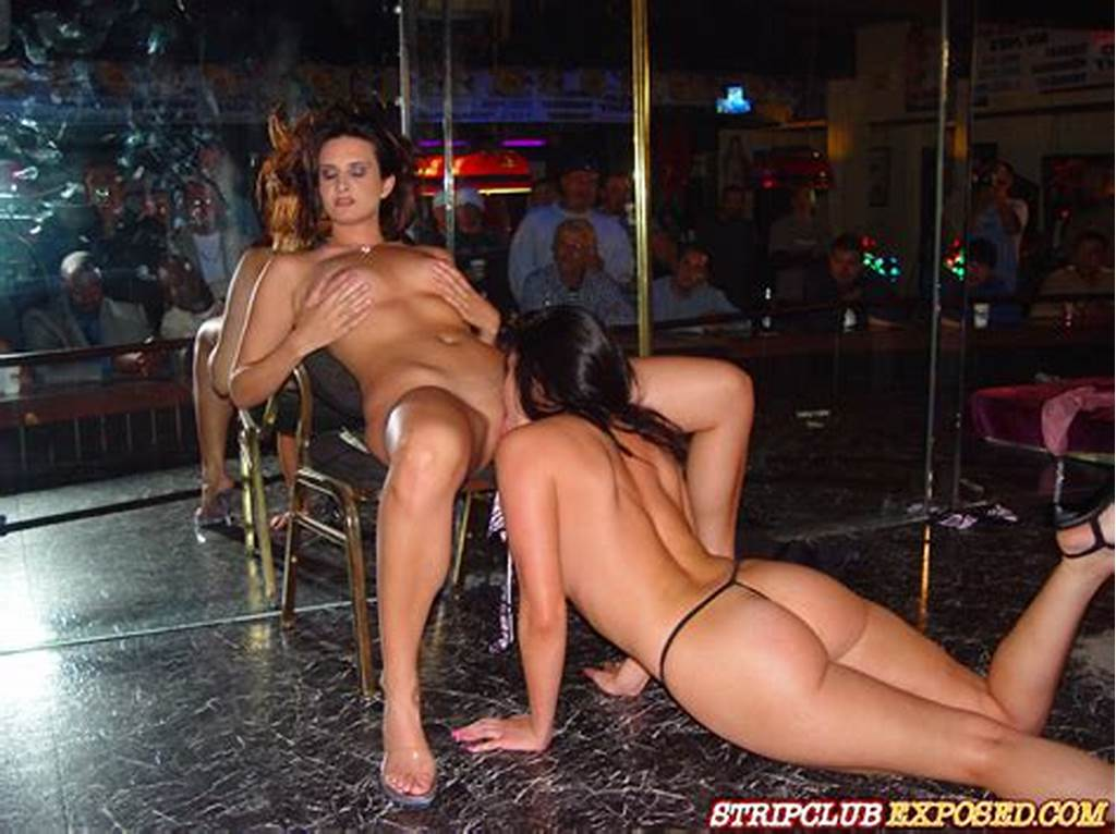 #Dark #Haired #Lesbian #Strippers #Get #Naked #And #Lick #Each