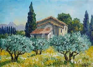 Un Mas En Provence : mas dans les oliviers peinture 22x16 cm par annie ~ Farleysfitness.com Idées de Décoration