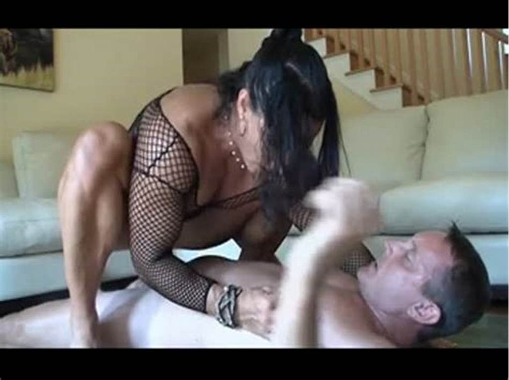 #Muscular #Milf #Does #Squats #On #His #Cock #Til #He #Cum #At