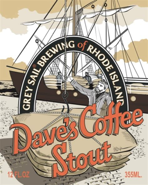Imperial stout, abv 8.18%, ibu 30.57, srm 48.63, fermentables: Dave's Coffee Stout - Grey Sail Brewing of RI - Untappd