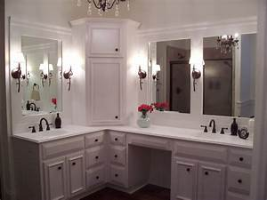 Custom built home - Master Bathroom with custom white ...