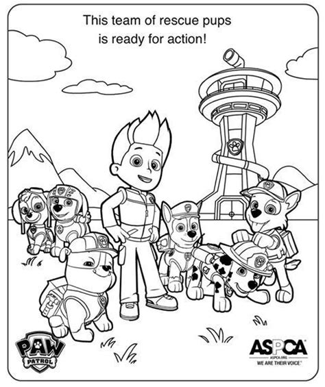 99 best images about Paw patrol coloring pages on