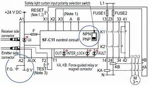 Safety Light Curtain Type 2 Sf2b Ver 2 I  O Circuit And Wiring Diagrams