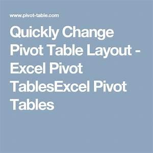Pivot Chart Excel Mac Quickly Change Pivot Table Layout Pivot Table Excel