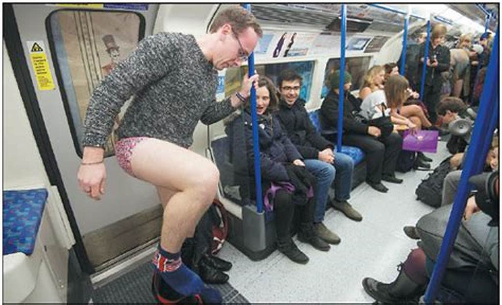 #People #Take #Part #In #The #Annual #No #Trousers #On #The #Tube #Day