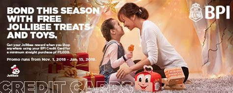Cash advance monthly finance charges for bpi credit cards will be adjusted from 3.50% to 2.00% and for bpi family savings bank credit card from 3.00% to 2.00%. Manila Shopper: BPI Credit Card x Jollibee Treats & Toys Promo: Nov 2018 to Jan 2019