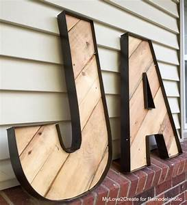 rustic industrial letters made from wood pallets and old With how to make giant wooden letters