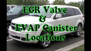 Dodge Journey  How To Find Egr Valve And Evap Canister
