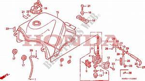Fuel Tank For Honda Transalp 600 1987   Honda Motorcycles  U0026 Atvs Genuine Spare Parts Catalog