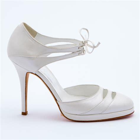 Forniamo una enorme selezione di scarpe sposa economiche a buon mercato per la tua scelta. Patrizia Cavalleri   Scarpe   Scarpa sposa in pelle tacco 12