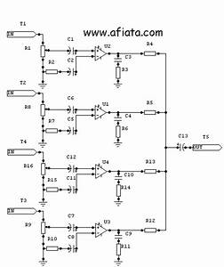 4 Channel Audio Mixer Circuits Using Ic Ca3048