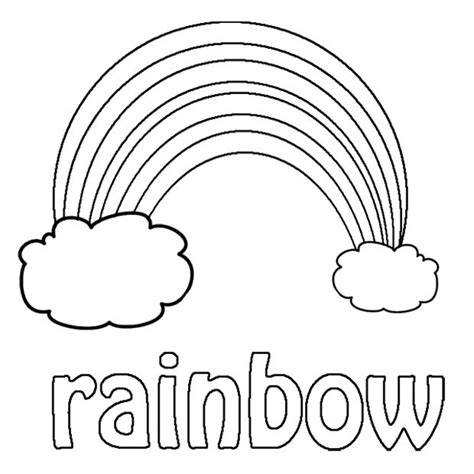 Sweet Rainbow Coloring Pages Kleurplaten