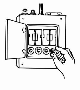 Fuse  Wiring Diagram  Drawing  White  Black And White