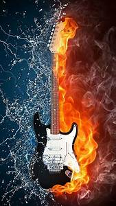 Water and fire guitar iPhone 6 Wallpapers | HD iPhone 6 ...