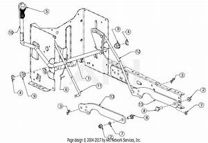 Troy Bilt 13an77bs011 Pony  2017  Parts Diagram For Deck Lift
