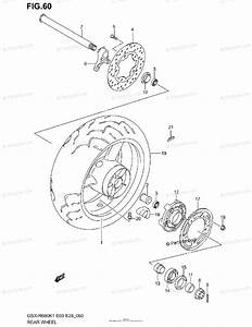 Suzuki Motorcycle 2002 Oem Parts Diagram For Rear Wheel