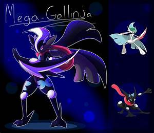 MEGA GALLINJA|Mega Gallade/Greninja fusion! by frostlie on ...