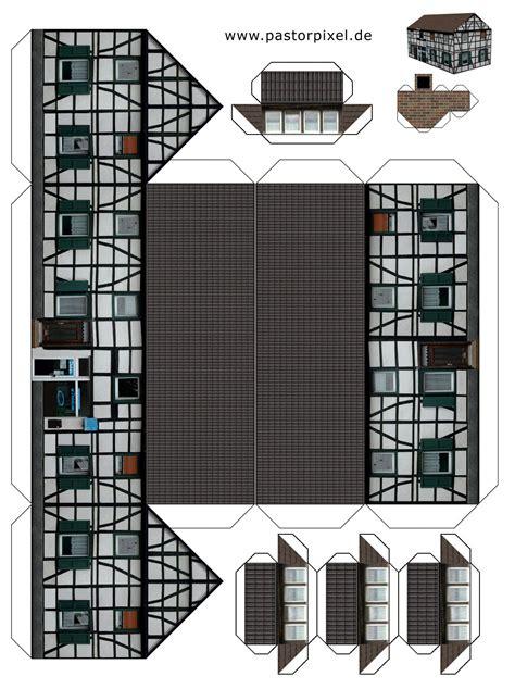 Rckseite bogen 2 von 4. SCHÜLERCLUB Dornbirn:  #werken  Ausschneidebögen: Häuser