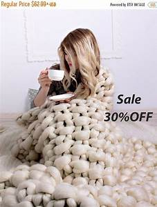 Chunky Wolle Decke : sommer sale super chunky knit decke stricken chunky decke ~ Watch28wear.com Haus und Dekorationen
