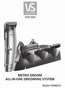 Vs Sassoon Metro Groom Instructions For Use Manual Pdf