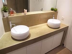 vasque a poser ronde vasque poser ronde en cramique grise With salle de bain design avec vasque ronde a encastrer