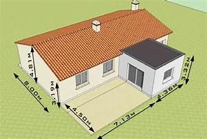 extension de maison de plain pied sejour et terrasse With plan agrandissement maison plain pied