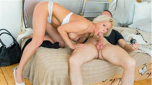 Red Haired Grandmother Plays Naughty With A Blonde Bisexuals