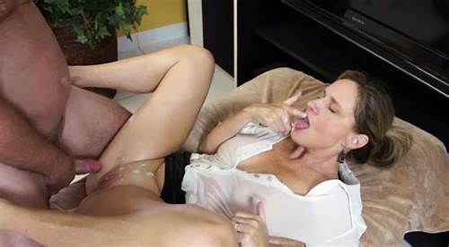 Milf Fucks And Got Cum Swallow On Her Boobs