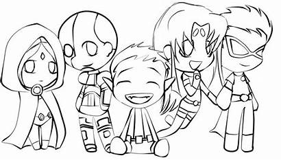 Coloring Pages Teen Titans
