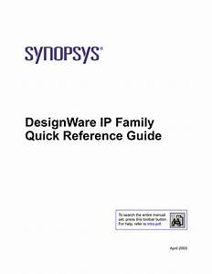Designware Library Quick Reference Guide