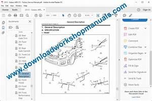 Subaru Wrx Workshop Repair Manual