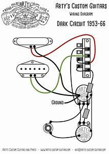 Arty U0026 39 S Custom Guitars Dark Circuit Blackguard 1953 Vintage Pre