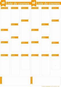 Liste De Courses À Imprimer Gratuitement : la liste de courses id ale imprimer format pdf fichier ~ Nature-et-papiers.com Idées de Décoration