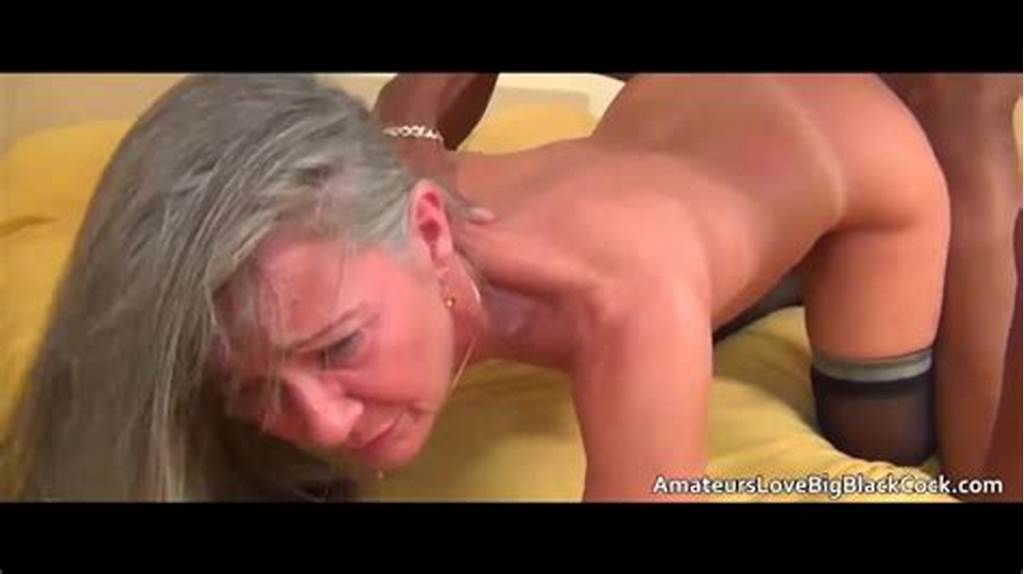 #Grey #Haired #Granny #Enjoys #Big #Black #Cock