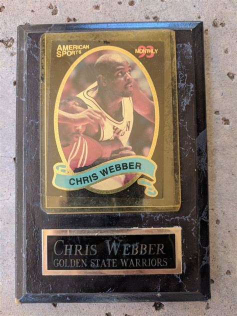 Maybe you would like to learn more about one of these? Details about Chris Webber Basketball Card University Of Michigan Wolverines Plaque   Chris ...