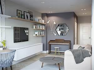 Mur Blanc Et Gris : touches de bois dans un int rieur blanc et gris picslovin ~ Preciouscoupons.com Idées de Décoration