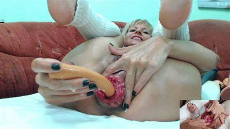 Giant Toys Bukkake Cunt Stretching Clit And Pussy With Massive Vibrator Fervent European