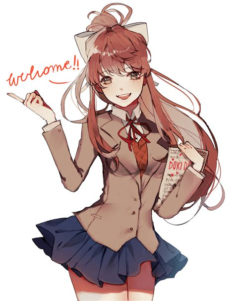 It's a completely free picture material come from the public internet and the real upload of users. Monika DDLC Phone Wallpapers - Wallpaper Cave