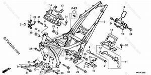 Honda Motorcycle 2018 Oem Parts Diagram For Frame