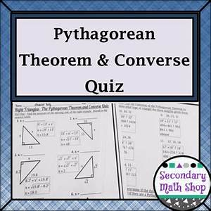 Right Triangles  The Pythagorean Theorem And Converse Quiz