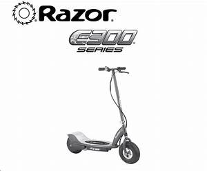 Razor E300s Electric Powered Seated Scooter White   Blue