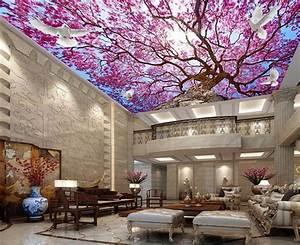 Sakura Afbeelding 3d Plafond Behang Mural 3d Kersenboom