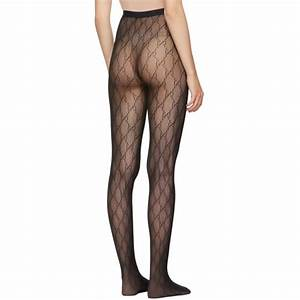 Gucci Black Gg Supreme Tights Gucci